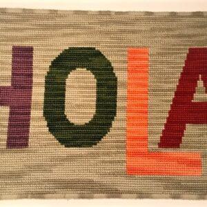 Alfombras personalizada que dice hola